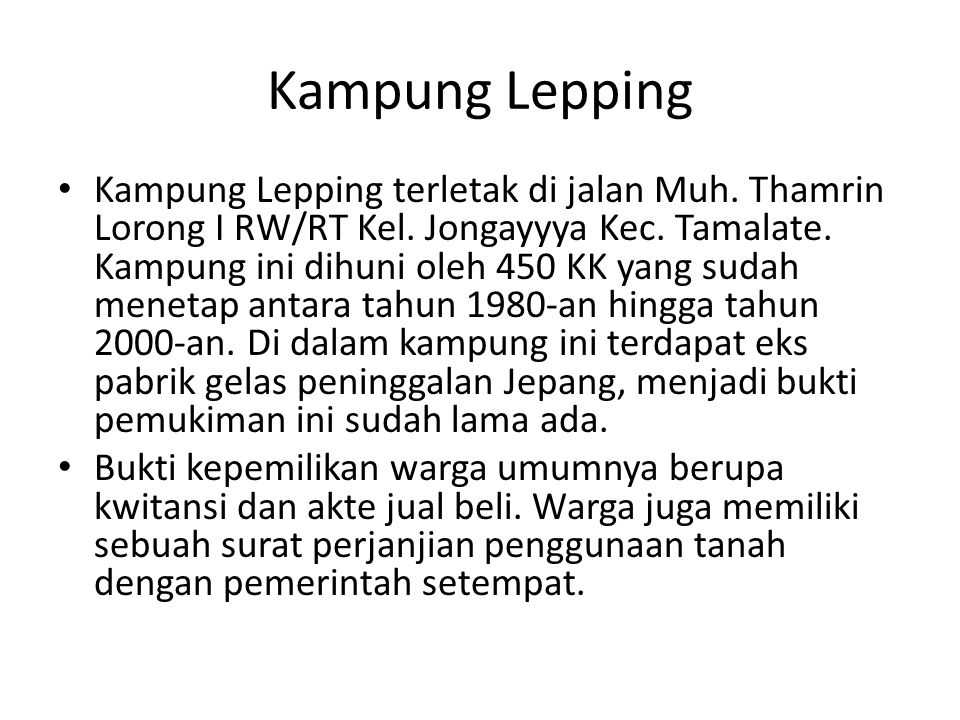 Profil Kasus Pemukiman Rmk Makassar Ppt Download