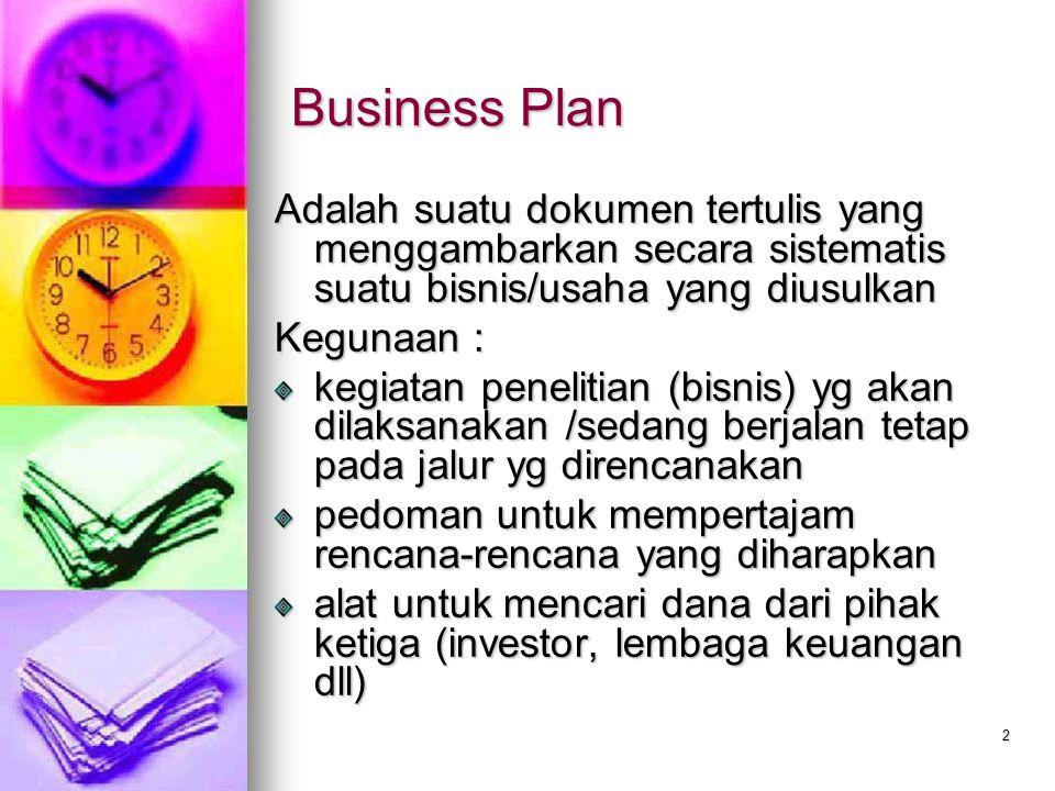 Business Plan Menyusun Rencana Bisnis Sederhana Ppt Download