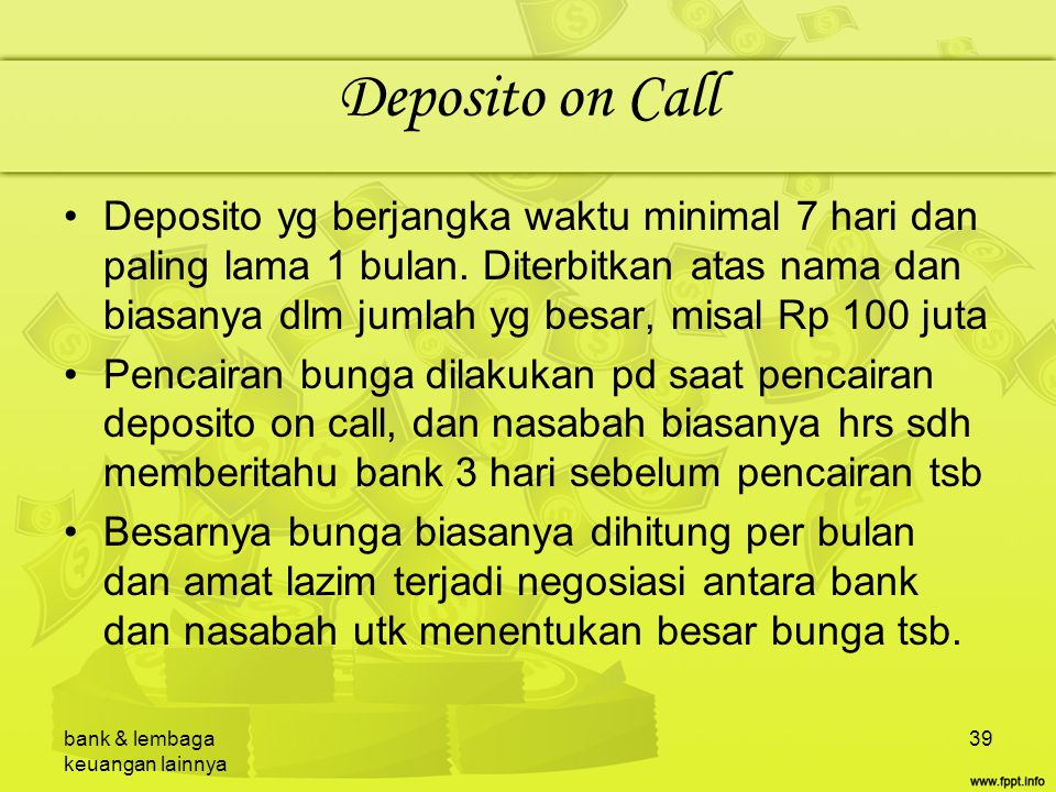 Deposito on Call