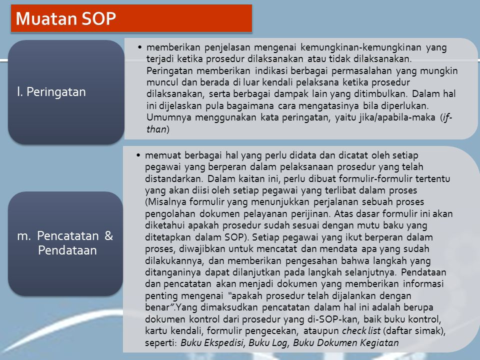 Standar Operasional Prosedur Sop Ppt Download