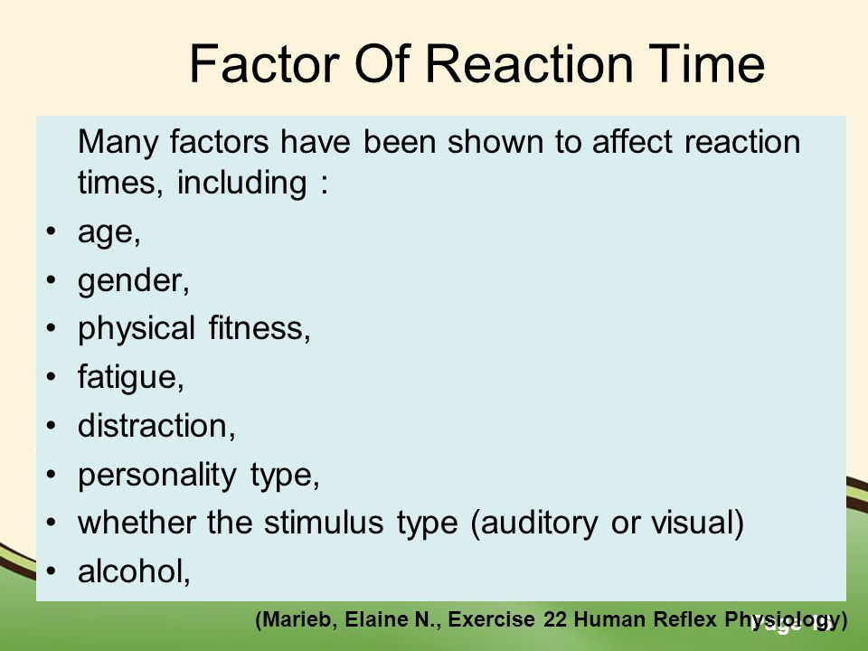how does gender affect reaction time
