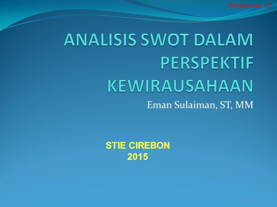 Analisis Swot Dalam Perspektif Kewirausahaan Ppt Download