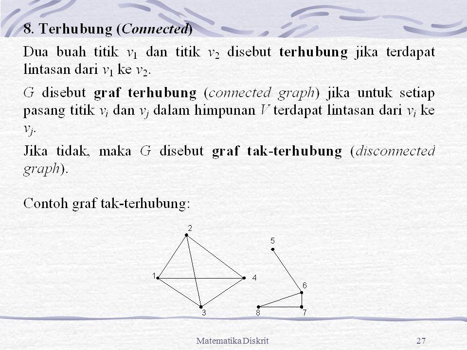 Teori Graf Bagian 1 Bahan Kuliah Matematika Diskrit Ppt Download