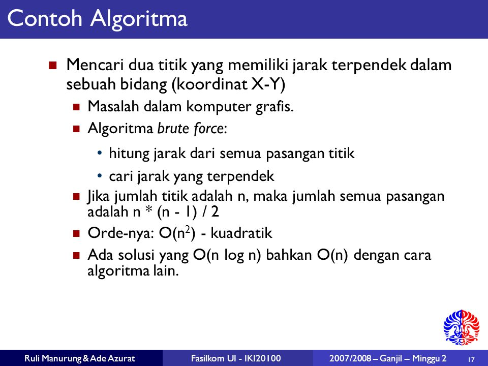 Pengenalan Analisa Algoritma Ppt Download
