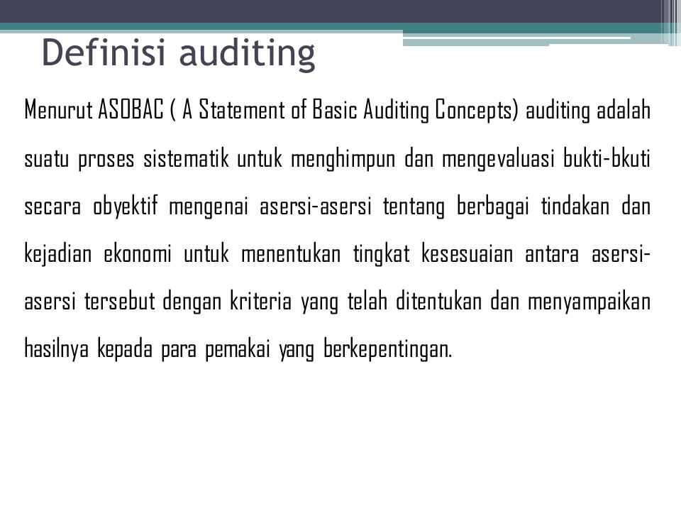 Definisi auditing