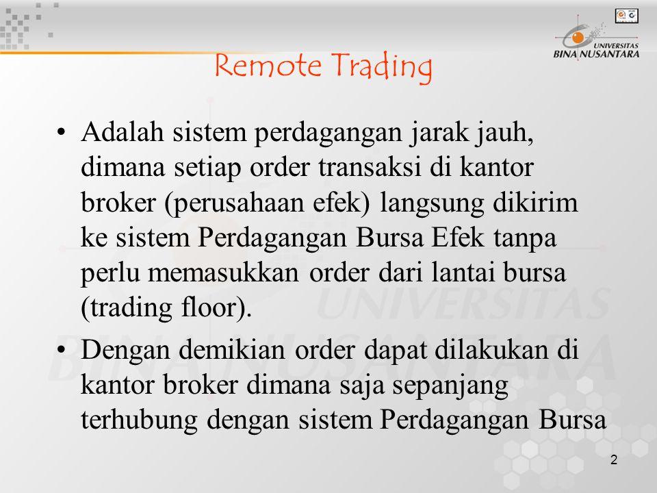 proyek sistem perdagangan saham online