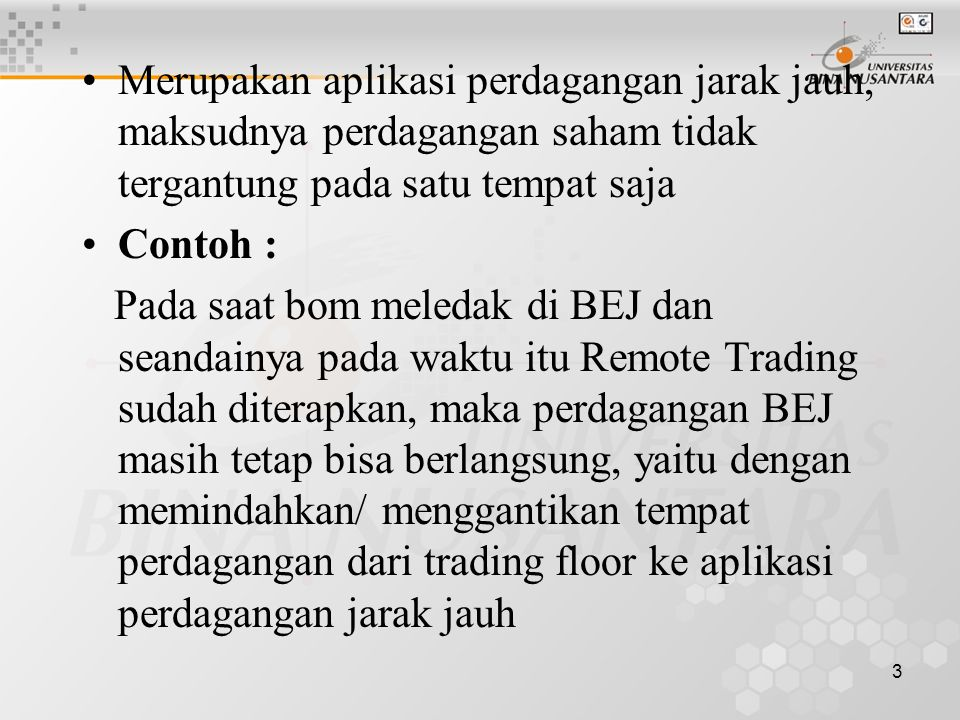 Aplikasi belajar trading saham