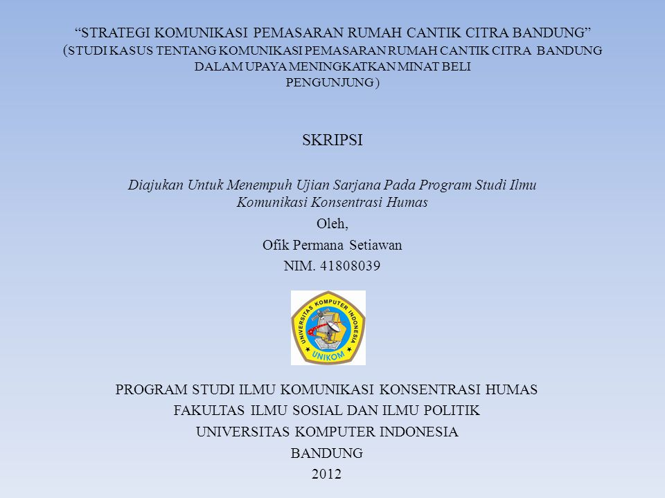 Program Studi Ilmu Komunikasi Konsentrasi Humas Ppt Download