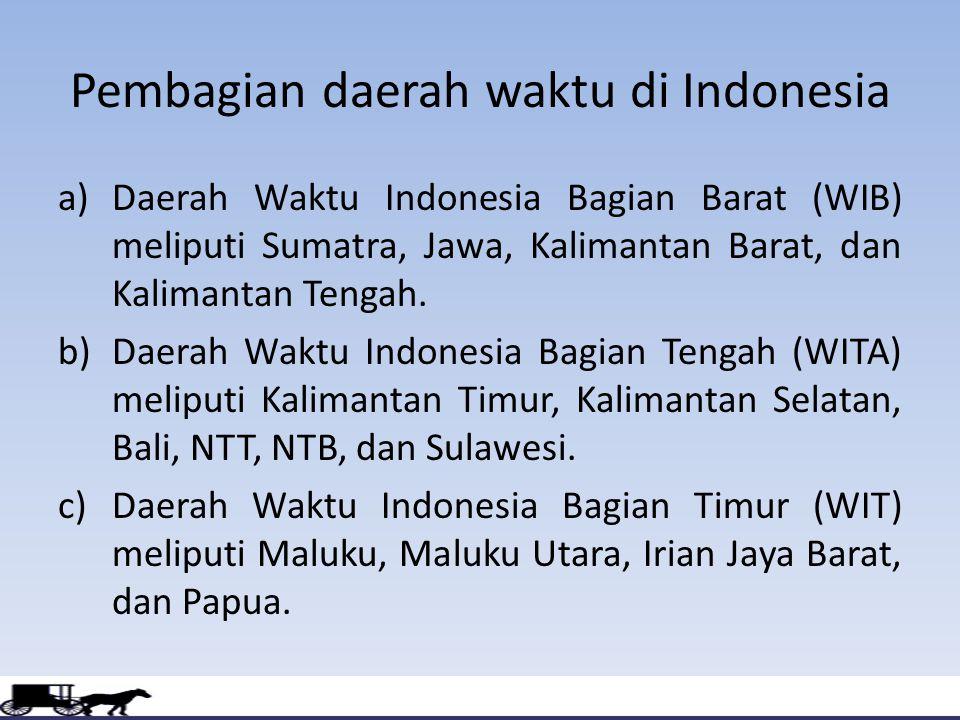 Kenampakan Wilayah Dan Pembagian Waktu Di Indonesi Ppt Download