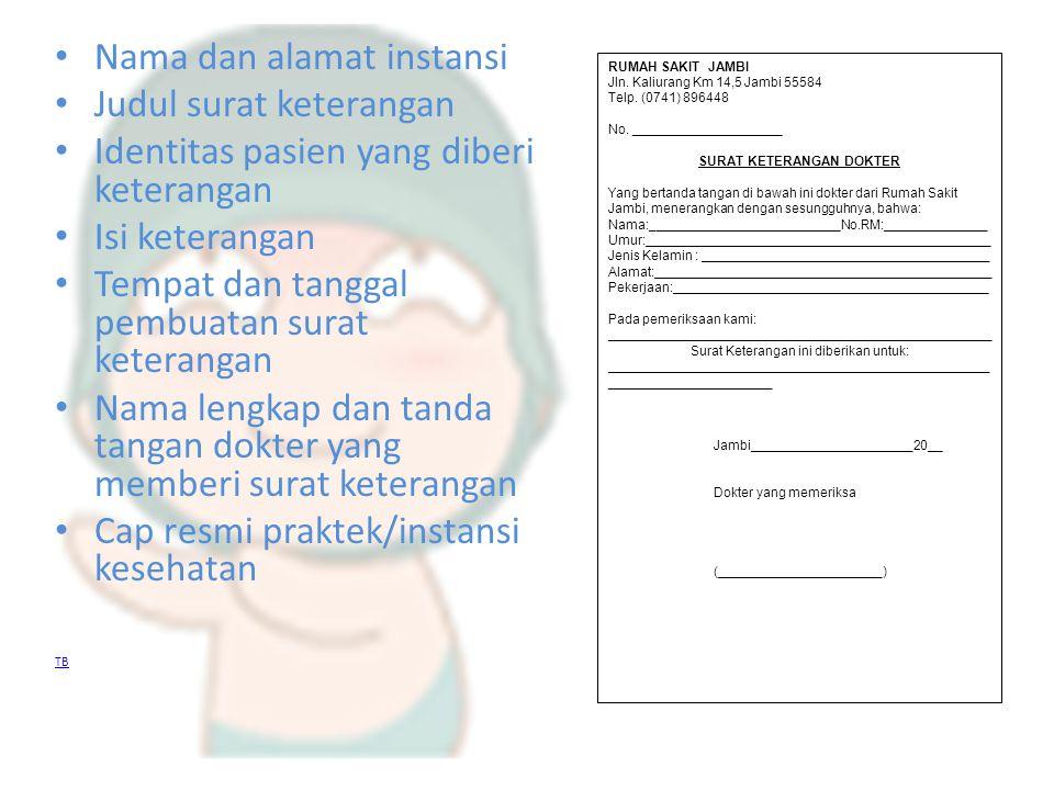 Skill Lab Surat Keterangan Dokter Ppt Download
