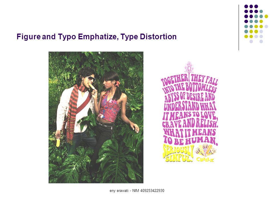 Figure and Typo Emphatize, Type Distortion