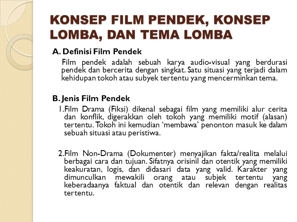Kategori Film Pendek Ppt Download