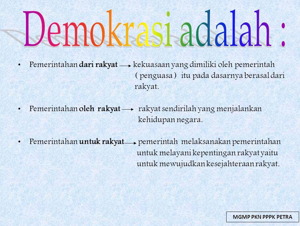 Demokrasi Dalam Kehidupan Bermasyarakat Berbangsa Dan Bernegara