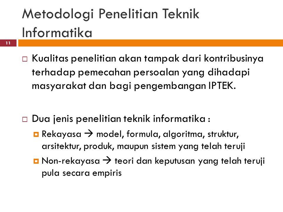 Metode Penelitian Di Bidang Teknik Informatika Ppt Download