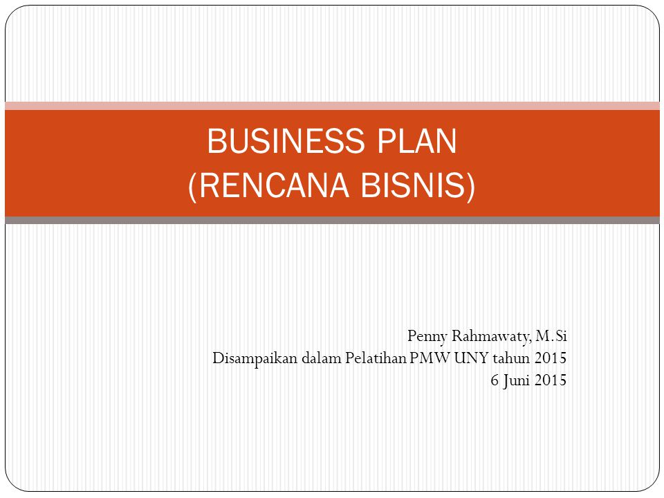 Business Plan Rencana Bisnis Ppt Download