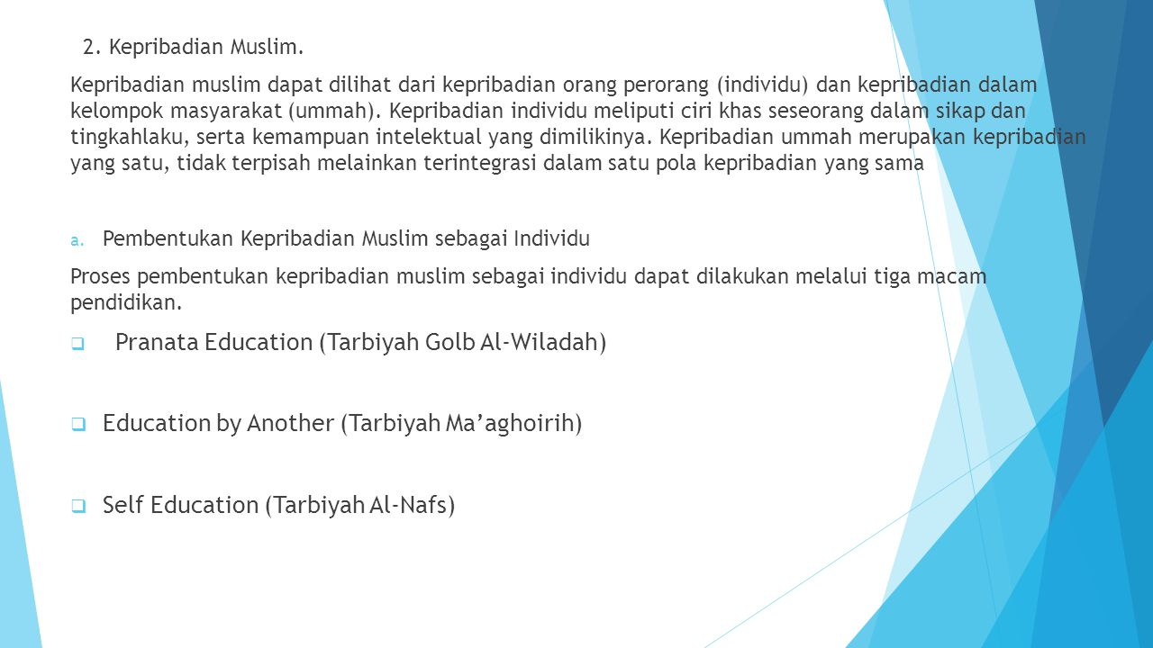 Education by Another (Tarbiyah Ma'aghoirih)