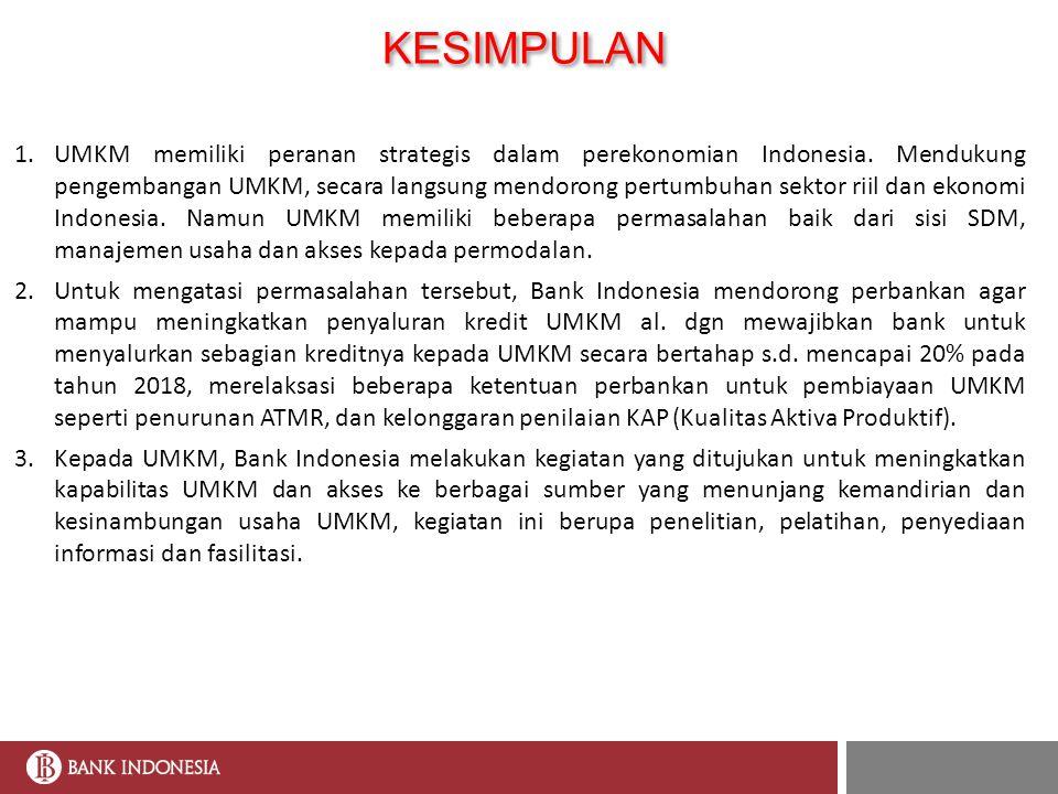 Peran Bank Indonesia Dalam Pengembangan Umkm Oleh Meily Ika Permata Deputi Kepala Perwakilan Bank Indonesia Dalam Rangka Seminar Daerah Yang Diselenggarakan Ppt Download