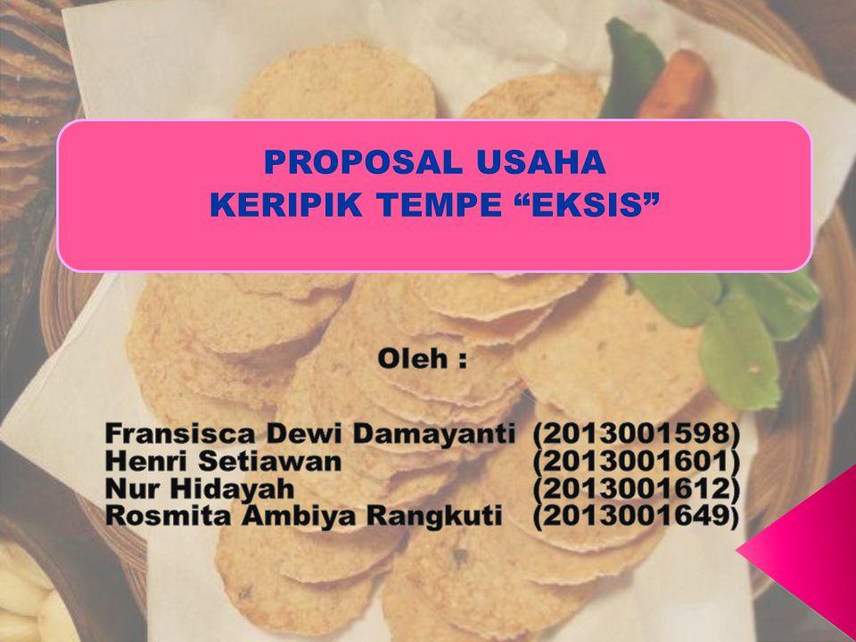 Proposal Usaha Keripik Tempe Eksis Ppt Download